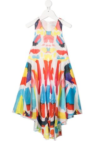 Stella McCartney Abstract-print handkerchief-hem dress