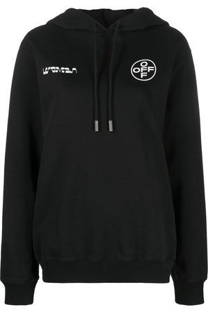 OFF-WHITE Logo-print long-sleeve hoodie