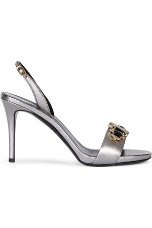 Giuseppe Zanotti Women Sandals - Gemstone embellished stiletto sandals