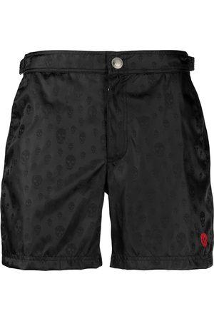 Alexander McQueen Skull-print swim shorts