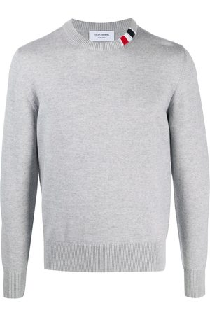 Thom Browne Relaxed fit crew neck sweater - Grey