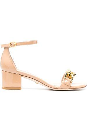 Stuart Weitzman Chain-detail sandals - Neutrals