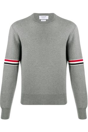 Thom Browne Men Sweatshirts - Milano stitch crew neck jumper - Grey