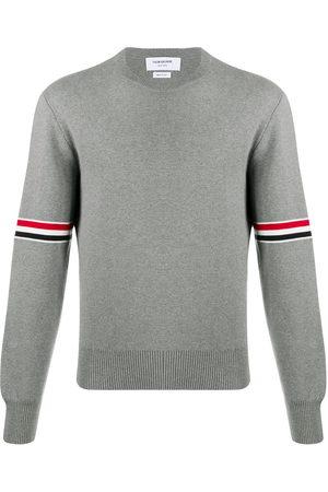 Thom Browne Milano stitch crew neck sweater - Grey