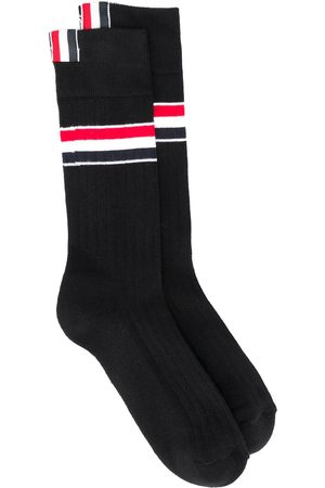 Thom Browne Women Socks - RWB stripe mid-calf socks