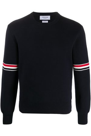 Thom Browne Men Sweatshirts - Milano stitch crew neck jumper