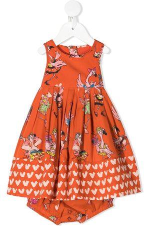 Stella McCartney Baby Printed Dresses - Flamingo-print flared dress