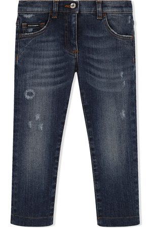 Dolce & Gabbana Distressed skinny-fit jeans