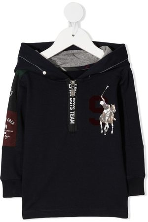 Lapin House Polo-print zip-up hoodie