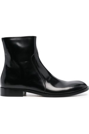 Maison Margiela Men Ankle Boots - Zipped leather ankle boots