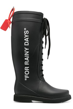 OFF-WHITE For Rainy Days lace-up boots