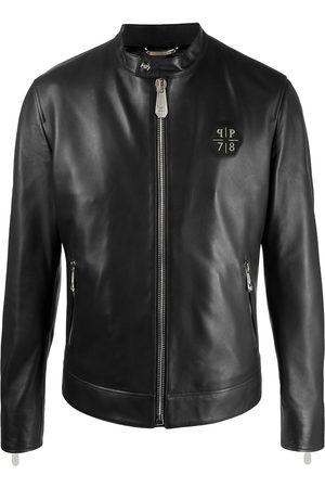 Philipp Plein Iconic Plein leather jacket