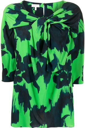 DELPOZO Twisted neckline blouse