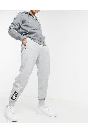Lacoste Live print fleece jogging pants-Grey