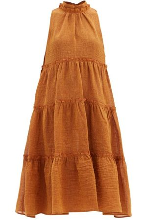 Lisa Marie Fernandez Women Midi Dresses - Erica Tiered Linen-blend Dress - Womens