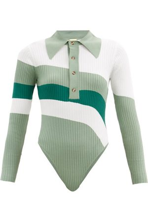 DODO BAR OR Hera Striped Ribbed-knit Bodysuit - Womens - Multi