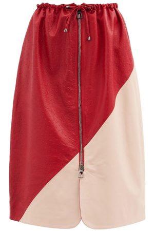 DODO BAR OR Jonna Drawstring Leather Skirt - Womens - Multi