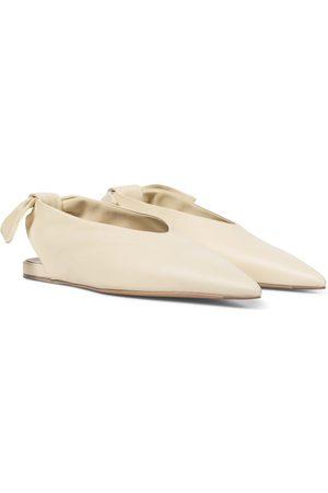 Jil Sander Leather slingback ballet flats