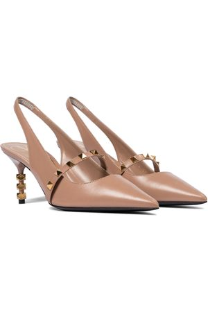 VALENTINO GARAVANI Rockstud slingback leather pumps