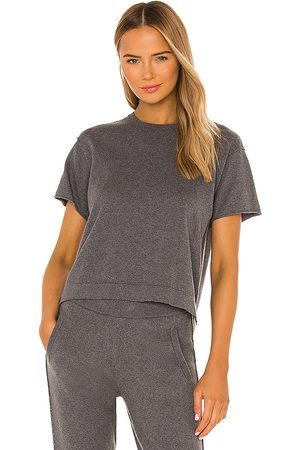 ATM Anthony Thomas Melillo Cotton Cashmere Sweater Tee in Charcoal.