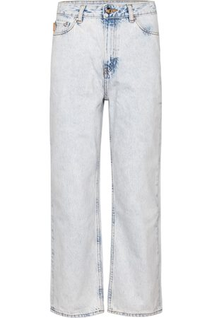 Ganni High-rise straight cropped jeans