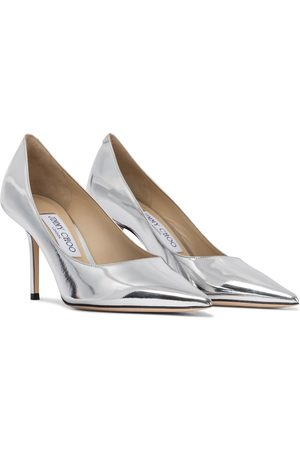 Jimmy Choo Love 85 metallic leather pumps