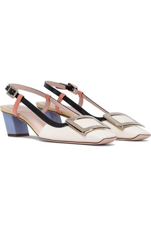 Roger Vivier Belle Vivier leather slingback pumps