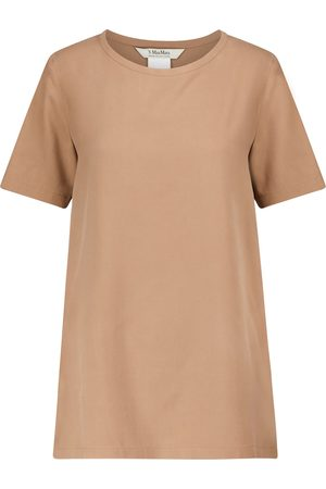Max Mara Oria silk canvas T-shirt