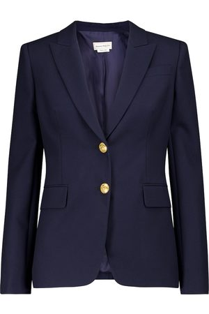 Alexander McQueen Single-breasted cotton blazer