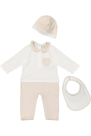 Fendi Baby stretch-cotton onesie, bib and hat set