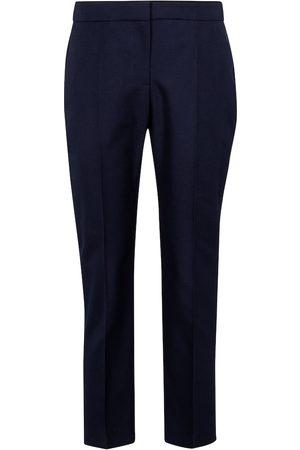 Alexander McQueen Mid-rise cotton cigarette pants