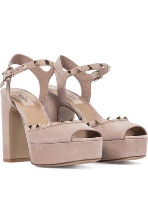 VALENTINO GARAVANI Rockstud suede platform sandals