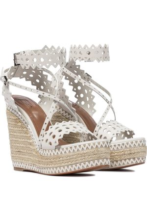 Alaïa Leather platform espadrille sandals