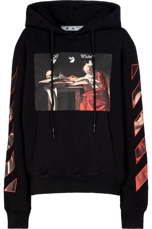 OFF-WHITE Caravaggio cotton-jersey hoodie