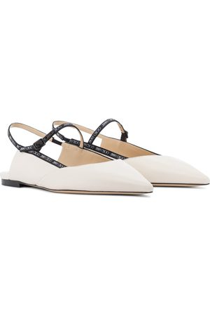 Jimmy Choo Ree leather slingback ballet flats