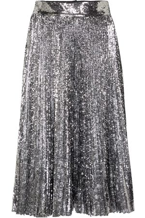 Dolce & Gabbana Sequined pleated midi skirt