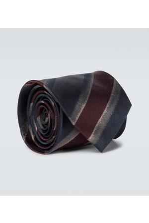 DRIES VAN NOTEN Striped silk tie