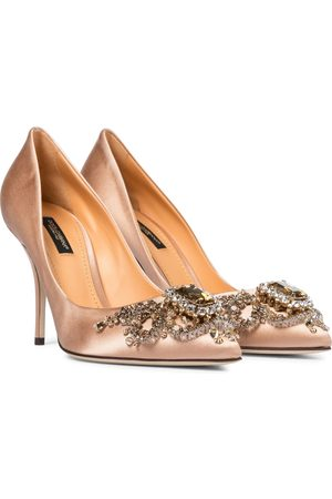 Dolce & Gabbana Embellished satin pumps