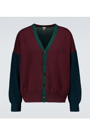 Loewe Colorblocked wool cardigan