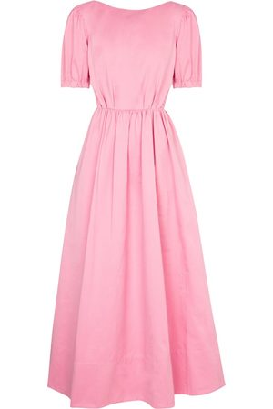 Staud Alix cotton-blend faille maxi dress