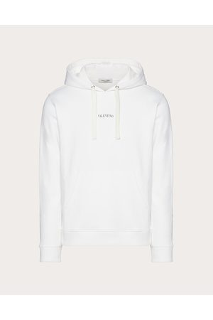 VALENTINO Men Sweatshirts - Hooded Sweatshirt With Valentino Print Man / Cotton 94% L