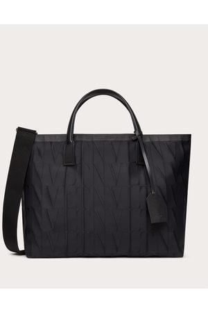 VALENTINO GARAVANI Men Bags - Vltn Times Nylon Jacquard Tote Bag Man 100% Poliammide OneSize