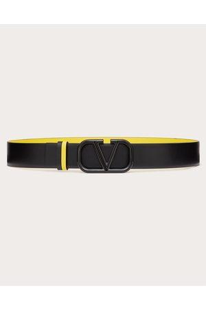 VALENTINO GARAVANI Vlogo Signature Reversible Calfskin Belt Man / 100% Pelle Di Vitello - Bos Taurus 100