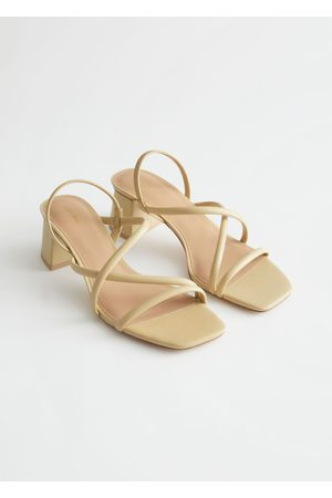 & OTHER STORIES Women Sandals - Chunky Strap Heeled Leather Sandals