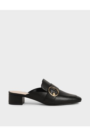 CHARLES & KEITH Ring Embellished Loafer Mules