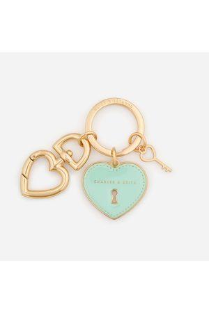 Charles & Keith Women Keychains - Heart Lock Keychain