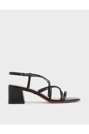 CHARLES & KEITH Criss-Cross Block Heel Sandals