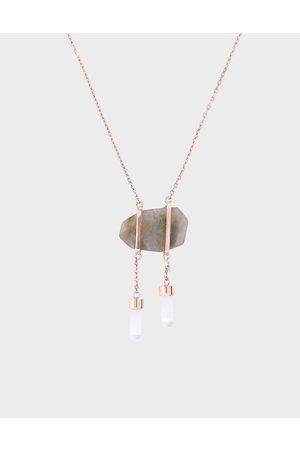 CHARLES & KEITH Labradorite Stone Necklace