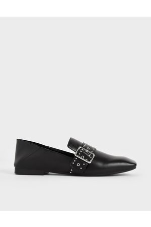 CHARLES & KEITH Grommet Buckle Step-Back Loafers
