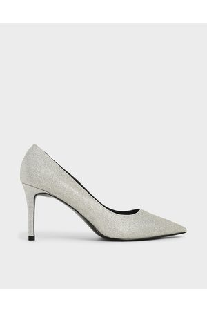 CHARLES & KEITH Glitter Pointed Toe Court Shoes